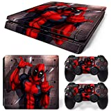 FriendlyTomato PS4 Slim Console and DualShock 4 Controller Skin Set - Super Hero - PlayStation 4 Slim Vinyl