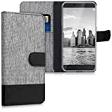 kwmobile Custodia portafoglio per Blackview A10 - Cover in simil pelle a libro Flip Case con porta...