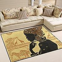 Ingbags Super Doux moderne Femme africaine Zone Tapis Tapis de salon Chambre à coucher Tapis pour enfants jouer solide Home Decorator Sol Tapis et moquettes 160x 121,9cm, multicolore, 63 x 48 Inch