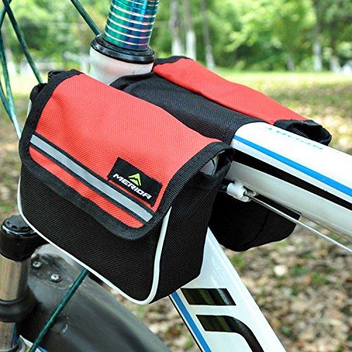Wasserdichte Bergstraße Fahrradhecktasche Satteltasche, groß für Außen Liebhaber Rot