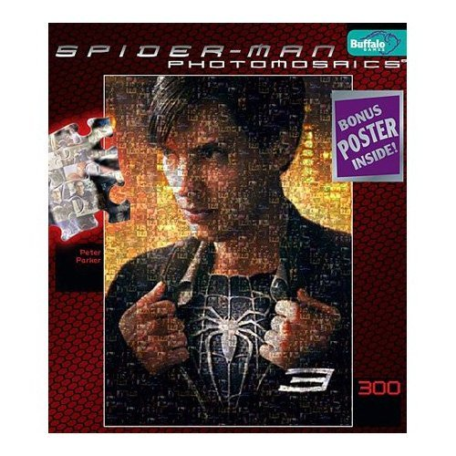 Spiderman 3 Photomosaic Peter Parker Jigsaw Puzzle 300pc by Buffalo Games
