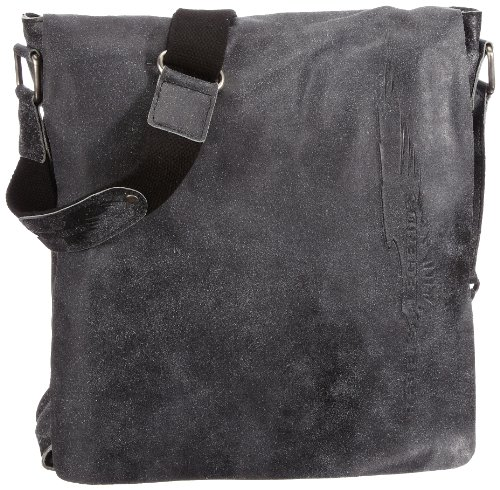 rebels & legends Cntmp 9083, Unisex - Erwachsene Messengerbags, Braun (brown 05), 31x34x9 cm (B x H x T) Schwarz (black 04)