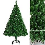 Weihnachtsbaum 120/150/180/210cm SANVA Tannenbaum weiß grün mit schnee Tannenzapfen 20/33/48/56er PVC hochwertiger künstlicher mit Metallständer Minutenschneller Aufbau mit Klappsystem Christbaum 250- (grün, 150cm)