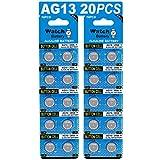 20 Stück Knopfzelle Alkaline Batterie LR 44 LR44 AG13 AG 13 1,5V