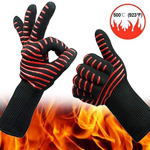 Bbq Zubehör Cooles (BBQ Handschuhe, extrem hitzebeständig Kochen Küche Pad rutschfeste Grillen Handschuhe BBQ Kamin Zubehör mit Cool Spider Design)