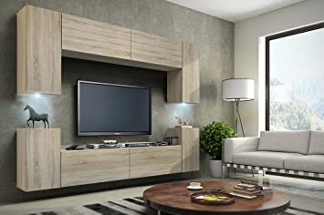 Beautiful Wohnwand Future Anbauwand Moderne Wohnwand Exklusive Mediambel Tv  Schrank Neue Garnitur Rgb Sonoma Rgb Amazonde Kche U Haushalt With Amazon  Tv ...