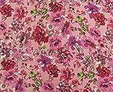 Blumendruck Rosa Baumwollgewebe für das Nähen Crafting 42