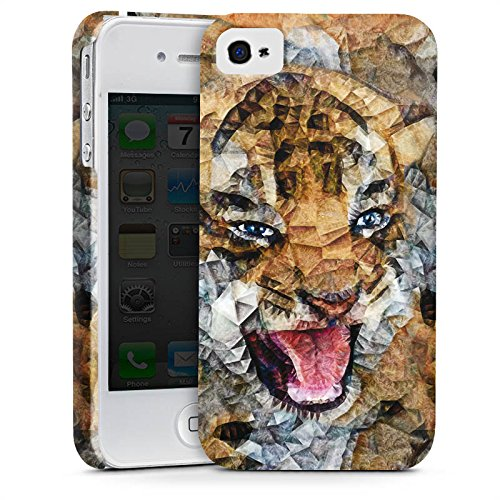 Apple iPhone X Silikon Hülle Case Schutzhülle Angry Cat Tiger Katze Premium Case glänzend