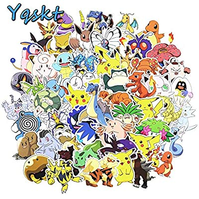 Lot de 99adhesivos Pokemon alta definición HD alta calidad (otros modelos disponibles) + incluye: 1Raclette de Marouflage danslesvapes® (100pokemon2) de DansLesVapes