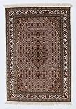 Nain Trading Indo Täbriz 203x143 Orientteppich Teppich Beige/Lila Handgeknüpft Indien