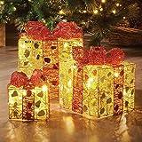 LED Weihnachtsgeschenke 3er-Set warmweiß Lichterkette Weihnachten Girlande Deko