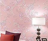 Yosot 3D Dreidimensionale Umweltschutz Vliestapeten Schlafzimmer Wohnzimmer Hintergrund Wand Tapeten Rosa