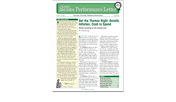 Leebs Income Performance Letter (Get the Themes Right: Growth, Inflation, Cash to Spend Book 5)