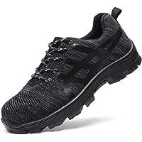 Scarpe Antinfortunistiche per Uomo e Donna Scarpe da Lavoro con Punta in Acciaio S3 Leggera Scarpe Protettive Sportive…
