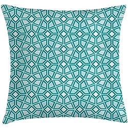 Funda de cojín geométrico fractal