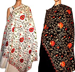 Valentine Day Sale - Set of two embroidery Stole for women