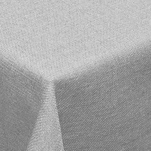 Leinen Optik Tischdecke Eckig 110x160 cm Hellgrau · Eckig Farbe & Größe wählbar mit Lotus Effekt - Wasserabweisend