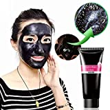 Travelmall Black Mask Purifying Peel off Mask Purifying Blackhead Acne Remover Peel Mud Deep Cleaning Anti Aging Facial Mask Pore Acne Treatments Mask Cleaner (Black)