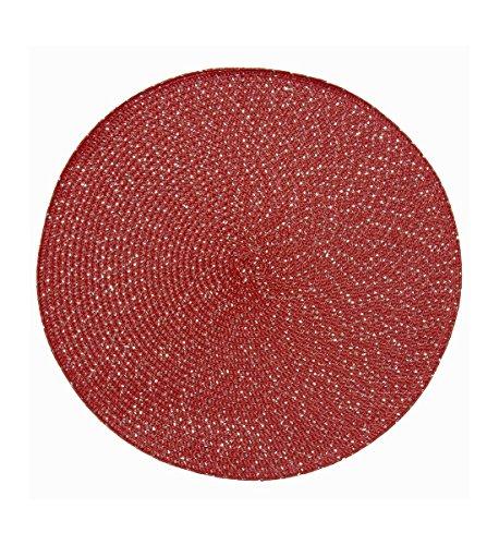 Home And Deco Colores Festif - Set de Table Le Lot DE 2 Ronde 35cm 100% Polypropylène