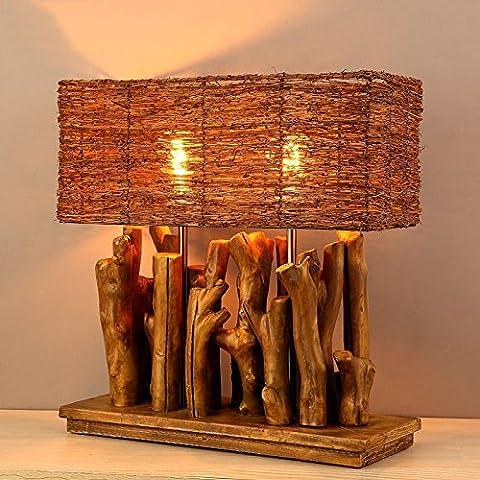 Salon de l'homme nordique lampe de table basse en bois, café-bar américain créatif Décoration de lampe de décoration de la lampe d'étude, 330*600 (mm),Square