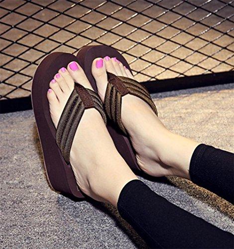 pengweiPattini di spiaggia del cotone dei pattini di carattere dell'uomo dei sandali di estate 3