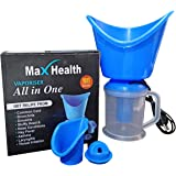 Max Health 3 in 1 Steam Vaporizer; Nose Steamer; Cough Steamer; Nozzle Inhaler & Nose Vaporizer Machine for Cold and…
