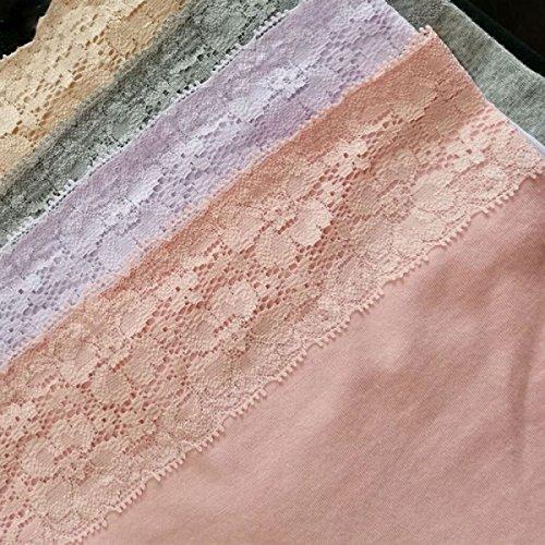 Frau Bikinihöschen Baumwolle Taille Mit Hohen Taille Taille Lap Hüfte Gesäß Kleine Flach Winkel Baumwollgewebe Einrückungen A2