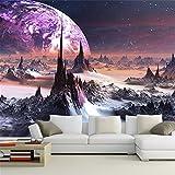 ADLFJGL 3D-Technologie Fantasie Raum Fresco Ktv Thema Schlafzimmer Galaxy Wallpaper Wallpaper 250 × 175 Cm Wallpaper
