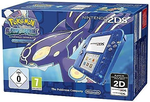 Console Nintendo 2DS - transparente bleu + Pokémon Saphir Alpha