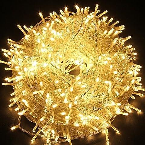 HanLuckyStars Guirnaldas Luminosas Cadena de luces 30M 300LED con 8 Modos de Cambio Resistente al agua para Adornos Boda Ceremonia árbol de Navidad Fiesta Jardín,Decoración Exterior e Interior +