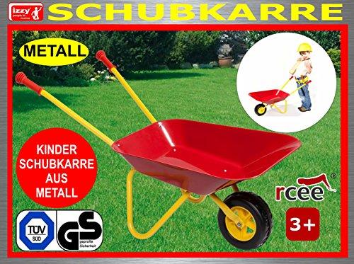 Preisvergleich Produktbild Kinderschubkarre aus Metall mit TÜV/GS, Belastbarkeit bis 35 kg, Maße: 73 cm, Metallschubkarre, Schubkarre, Handwagen