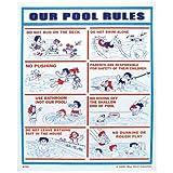 "Valterra Products 8703 18 ""x 24"" Blue Devil Sign - Unser Pool-Regeln"