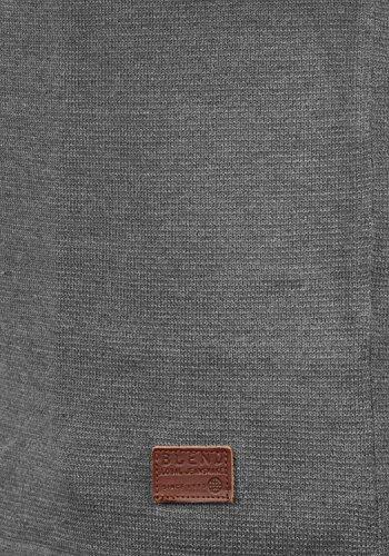 BLEND John Herren Strickpullover Feinstrick Pulli mit Rundhals-Ausschnitt aus 100% Baumwolle Meliert Pewter Mix (70817)
