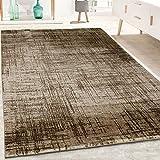 Paco Home Designer Teppich Kurzflor Wohnzimmer Meliert Geometrische Formen Muster in Braun, Grösse:160x230 cm