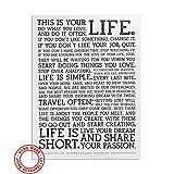 JUNIQE Poster Schwarz-Weiß, Typographie & Sprüche - Design Manifesto Bilder, Kunstdrucke & Prints von jungen Künstlern entworfen von Holstee (Premium Poster 12