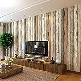 yancen Non Woven papel pintado de grosor papel pintado Simple Imitación madera grano papel dormitorio salón comedor sala de TV
