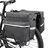 BV Bike Bag Bicycle Panniers with Adjustable Hooks, Carrying Handle, 3M Reflective Trim and Large...