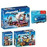 PLAYMOBIL® Piraten 4-tlg. Set 6682 Piratenfloß + 6683 Piraten-Schatzversteck + 6684 Piratenkapitän + 5159 7350 Unterwassermotor