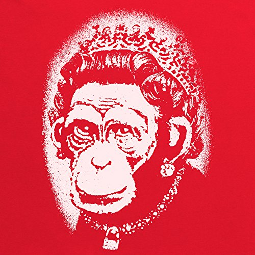 Banksy monkey Queen T-Shirt, Herren Rot