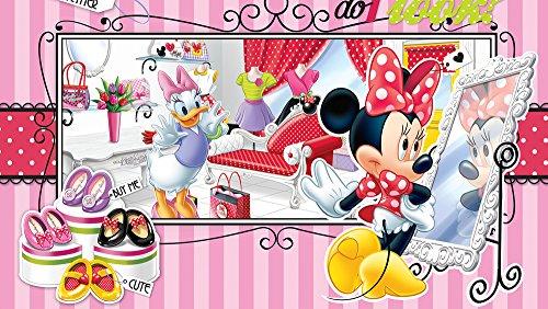 fotomurale-foto-wallpaper-carta-da-parati-disney-minnie-mouse-541-sfondo-blu-carta-254-cm-largo-x-18