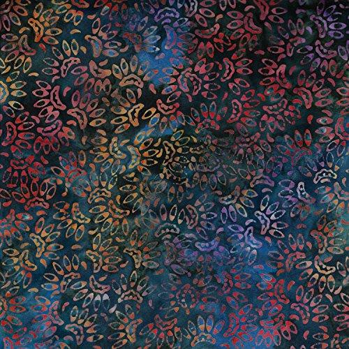 Blaugrün Blau Lotus Design 100% Baumwolle Bali Batik tie dye Muster Stoff für Patchwork, Quilten &,-(Preis pro/Quarter Meter) (Bekleidung Pink Lotus)