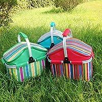 Ettg con aislamiento enfriador de plegable cesta de Picnic bolsa térmica bolsa -- Color aleatorio