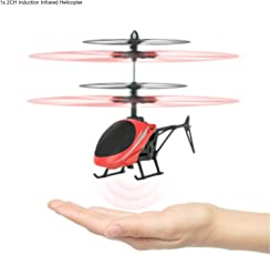 Induction Type Hand Sensor Flying Helicopter For Kids - Multi Color