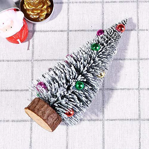 Gaddrt Weihnachtsbaum Weihnachtsbaum Mini Pine Tree mit Holzbasis DIY Handwerk Home Table Top Decor 30cm/25cm/20cm/15cm (A) (Tabletop-zug-set)