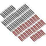 Original Gemfan 5030 5x3 Hélices Mega Paquete 100 Piezas (50 CW, 50 CCW) Facil&co© - Rojo & Negro - Original & Alta Calidad 5-Pulgadas Quadcoperos y Multirotor Drone Hélices