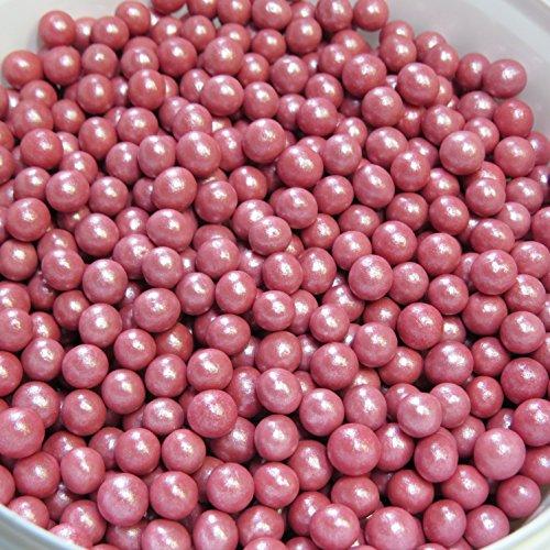 50g Knusper Perlen rot – Kuchen Deko – Essbare Perlen –