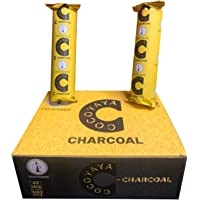 COCOYAYA C Charcoal Quick Light Charcoal Pack of 10 Roll Odorless Hookah Charcoals Charcoal Coal (100 Coals) Black