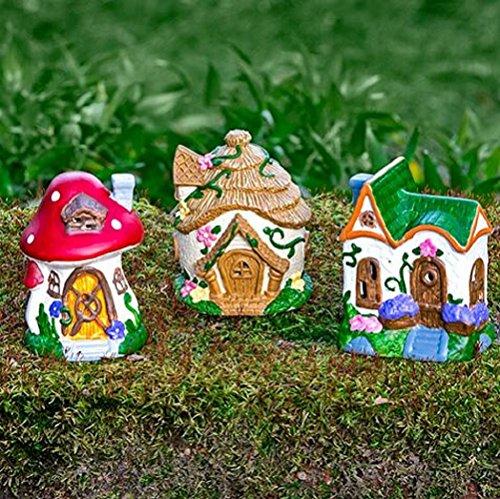 Moose House (Fairy Garden Mini Polyresin Häuser, Figuren, Zubehör, Schalen, Moos und Pebbles Sets Houses)