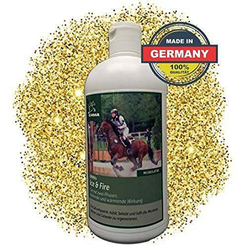 EMMA Pferdebalsam wärmend & kühlend I Wärmesalbe & Kühlgel I Pferdesalbe zur Massage Bänder, Sehnen & Muskulatur I 500 ml
