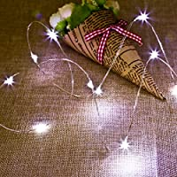 5 Pack Foonii Luci Stringa 2m 20 LED String luce per la decorazione casa matrimonio Natale partito Rame filo della lampada anche per Festa, Giardino, Natale, Halloween, Matrimonio-viola chiaro Caldo - Note Musicali Centrotavola